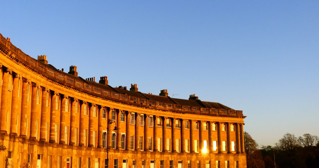 Royal Crescent Building In Bath