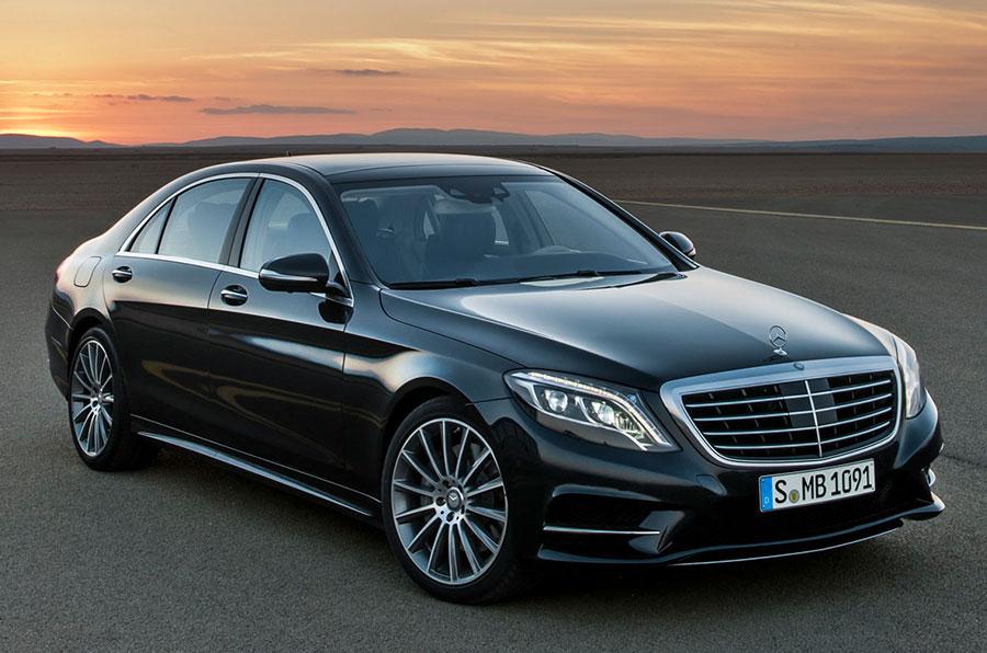 Black Mercedes S Class Car